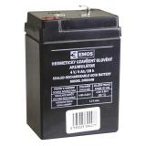 Olověný bezúdržbový akumulátor SLA DHB440, 4V, 4Ah, F1, úzký, ke svítilně P2306