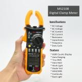 PEAKMETER PM2108 6600 počítá AC DC Mini digitální svorka True RMS IN odporový proudový kapacitní odpor měřič frekvence