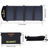 Přenosný skládací solární panel Suaoki 25W vodotěsný duální 5V/2,1A USB