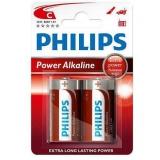Baterie Philips LR14, C, Power Alkaline, (Blistr 2ks)