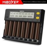Nabíječka baterií MiBOXER C8 8 slotů LCD displej pro Li-ion LiFePO4 Ni-MH Ni-Cd AA 21700 20700 26650 18650 17670 RCR123 18700