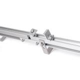 Kompletní držák pro 2 panely na střeše s háčky 40 mm
